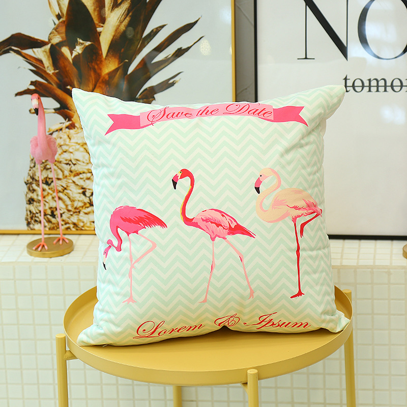 Cute Flamingo Cushion Pillow Case Flamingo Party Bedroom Sofa Home Decoration accessories Birthday/Wedding Favors and Gifts 13