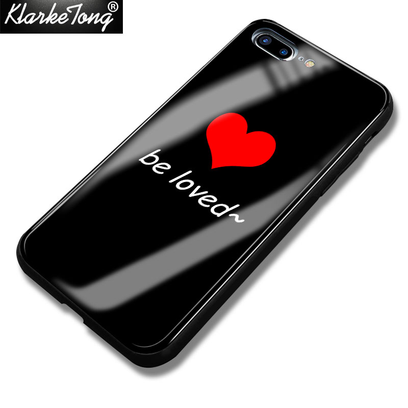 US $4 89 |Luxury Tempered Glass Love Heart Emoji Phone Case For iPhone X 7  8 6 6S Plus Cute Hard Back Cover Coque-in Fitted Cases from Cellphones &