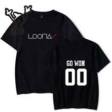 BTS Hot Sale LOONA T-shirt Women Kawaii Kpop Harajuku Fashion Short Sleeve Summer tshirt Casual Print Tops Plus Size 4XL A7050