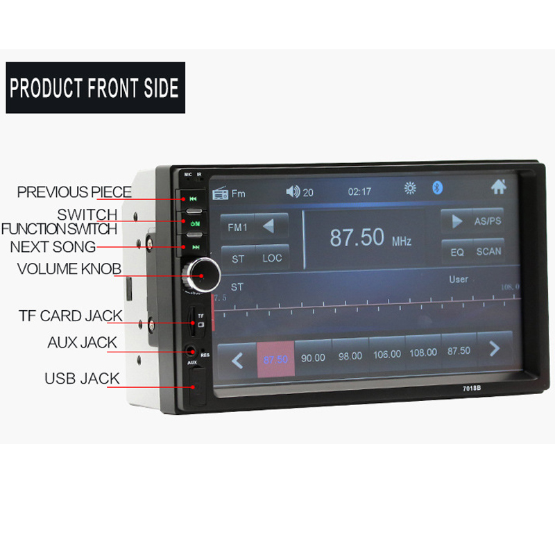 2018 Auto Parts 7 Inch Car MP4 Car MP5 Car Radio High Definition Bluetooth Hands-free Reversing Priority Card Radio Display 2018 auto parts car radio in car radios high definition 7 inch car mp5 player car bluetooth music mp4 card radio player display