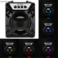 High Quality LED Multimedia Bluetooth Wireless Rechargable Portable Speaker Super Bass With USB TF AUX FM