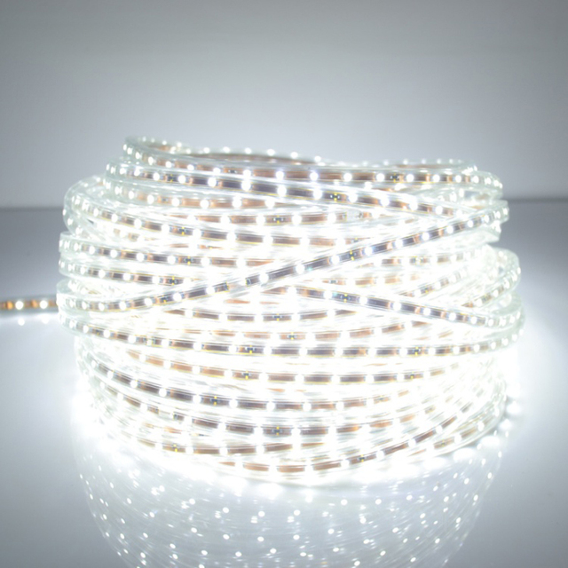 Free shipping 5050 LED strip 220V high voltage  5050 Tube type Waterproof flexible SMD led strip 60leds/M