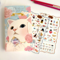 8 pcs /set High good quality Korea Jetoy Diary sticker Cute Cat sticker Freeshipping