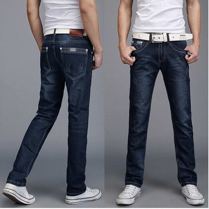 Aliexpress.com : Buy Men Straight Jeans 2017 Fashion Skinny Jeans ...