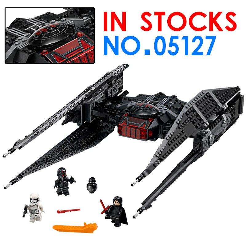 Compatible Legoings Star Kylo Plan Tie Models Fighter Sets 705Pcs Starwars Blocks DIY Educational Toys For Kids Legoing Figures