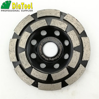 4 Inch Diamond Double Row Cup Wheel For Concrete Masonry Diameter 100mm Bore 16mm