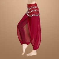 New Belly Dance Costumes Belly Dancing Clothing Oriental Costumes Net Yarn Pants Dance Practice Performance Wear Trousers DN1589