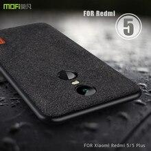 עבור Xiaomi Redmi 5 בתוספת מקרה Xiaomi redmi 5 בתוספת MOFi Redmi הערה 5 מקרה חזרה כיסוי בד מגן Redmi 5 בתוספת מקרים חלבית