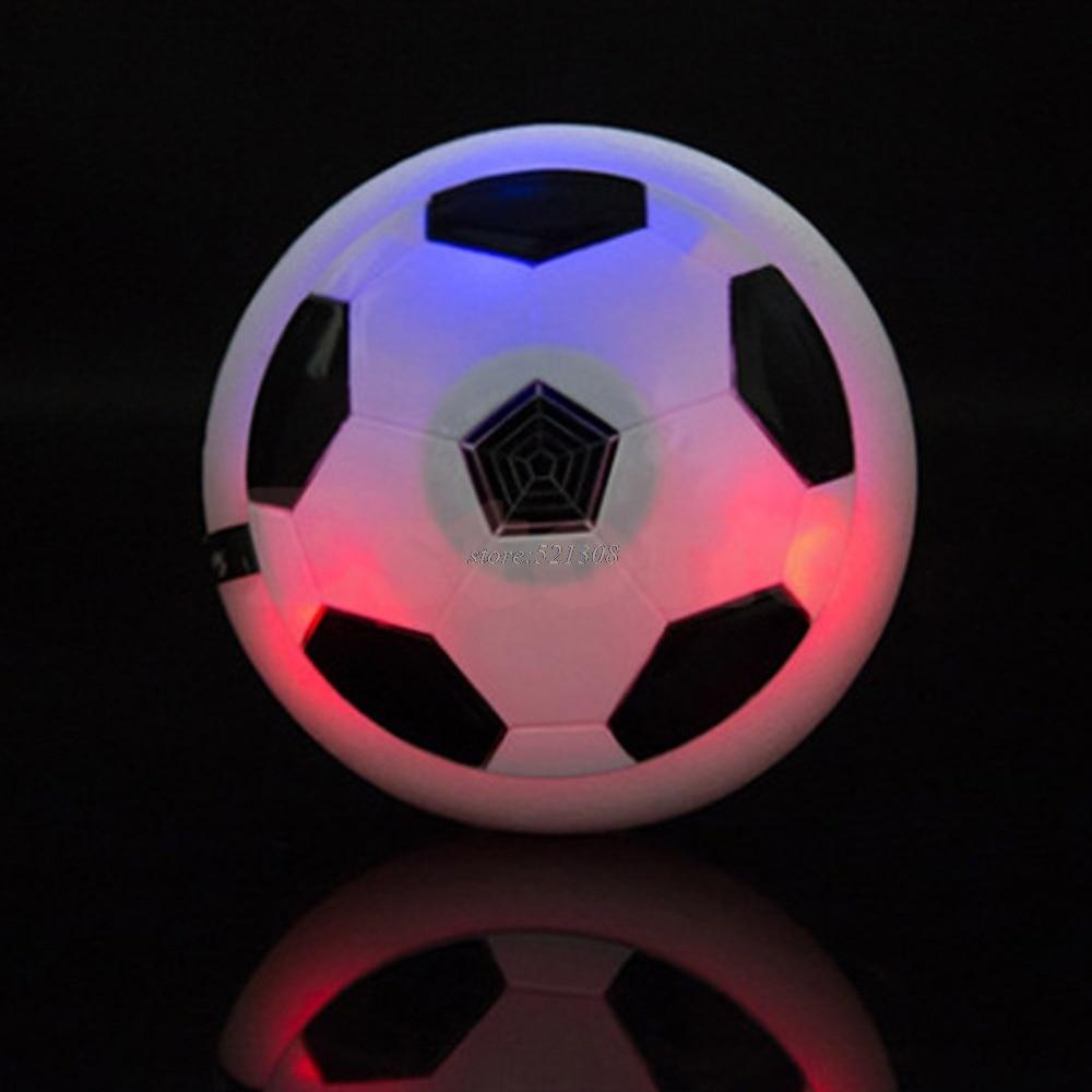 Children Kids Hover Fun Football Gift Indoor Soft Foam Floating Fun ball LED JUN12