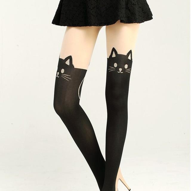 7062433a1 New Women Sexy Cat Tail Velvet Knee High Socks Hosiery Tattoo Stockings  popular stockings 2019