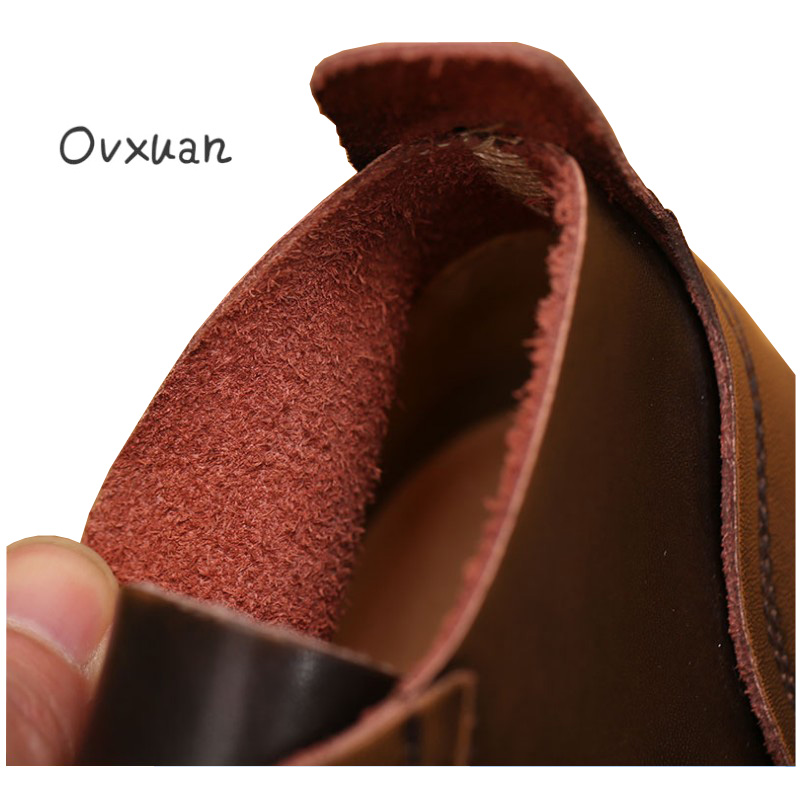 Spring and Autumn New Products Men's Shoes Korean Round Head Men's Casual Oxford Shoes Leather Gold Embroidered Dating Shoes - 3