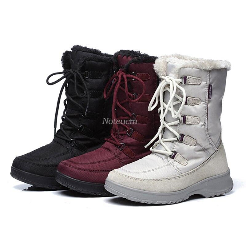Blanco Acolchados a55w01 Sintética Mujer Mujeres Negro Con Impermeable Black Del Las a55w01 Señora Para Casual Zapato Nieve Piel Red Caliente Corto White Botas Rojo A55w01 Invierno Tobillo TqA645