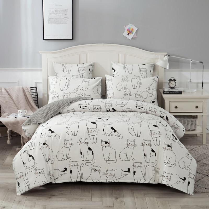 4/7pcs quilt cover pillow set biancheria da letto comforter cotone euro pastello doppio lato solido e fiore stampato letto set-in Completi letto da Casa e giardino su  Gruppo 2