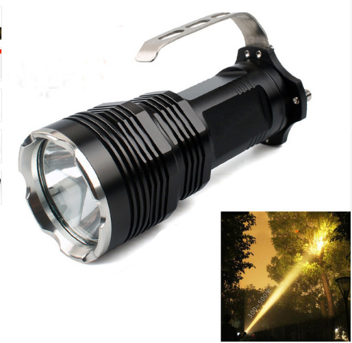 ФОТО New Hunting  CREE XM-L2 Yellow Long-range Rechargeable Hunting Tactical Outdoor Portable LED Flashlight Searchlight Flashlight