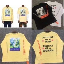 2019 Heron Preston T Shirt Men Women Long Sleeves Streetwear Harajuku Xxxtentacion T-shirt Cotton Tshirt