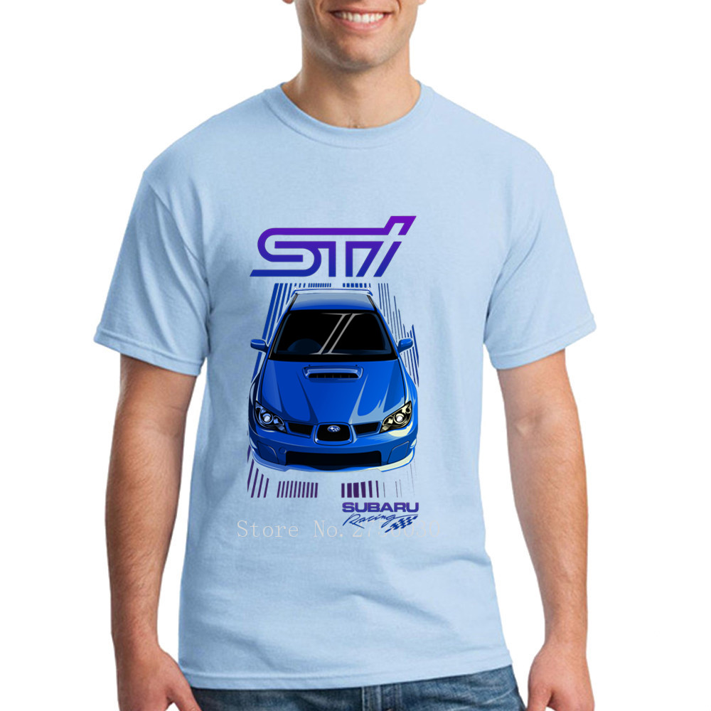 Mens Tee Shirts Custom Vintage Turbo STI Performance Team Top T Shirts Short Sleeve Valentines T-shirts XXXL Harajuku Hipster