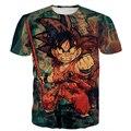 Homens Mulheres Harajuku Vintage Prints camisetas Clássico Dragon Ball Z Das Camisas Das Camisetas Tie Dye Kid Goku camisa 3D t Masculino t Anime tee