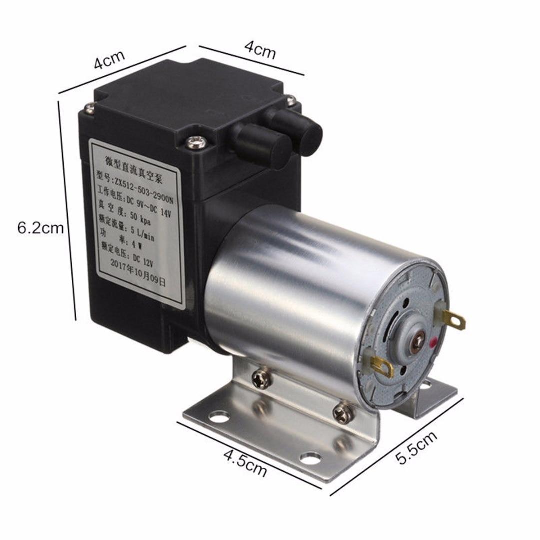 1pc ZX512-503-2900 Electric Mini Vacuum Air Pump Negative Pressure Suction 80kpa 5L/min DC 12V 4W