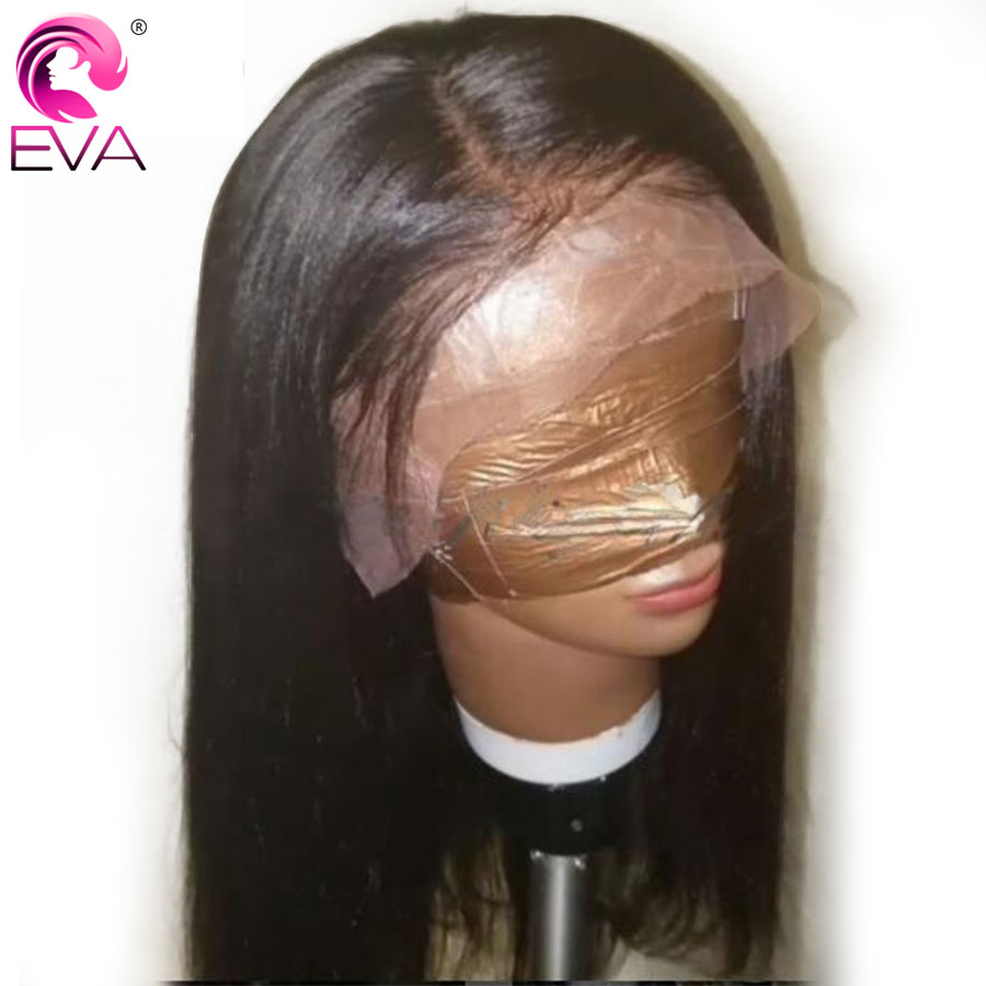 Eva Hair Lace Front Human Hair Wigs For Black Women Peruvian Remy Hair Yaki Straight Lace Front Wigs Pre Plucked With Baby Hair