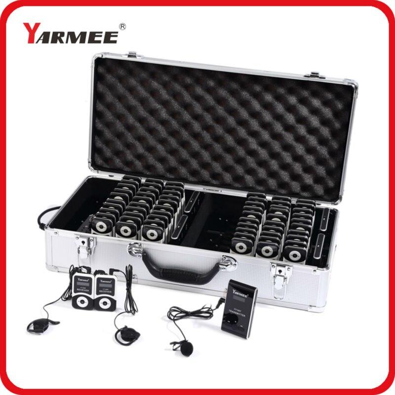 Yarmee anti-ingérence vhf 99 groupes sans fil tour guide système YT100