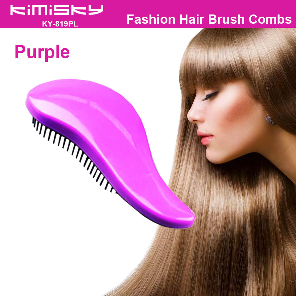 comb hair style fashion hair comb brush purple comb hair detangling hair 9246
