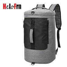 HeloFrn Travel Backpack Men Large Capacity Waterproof For Teenagers Male Bag Laptop USB Mochila Bagpack Black