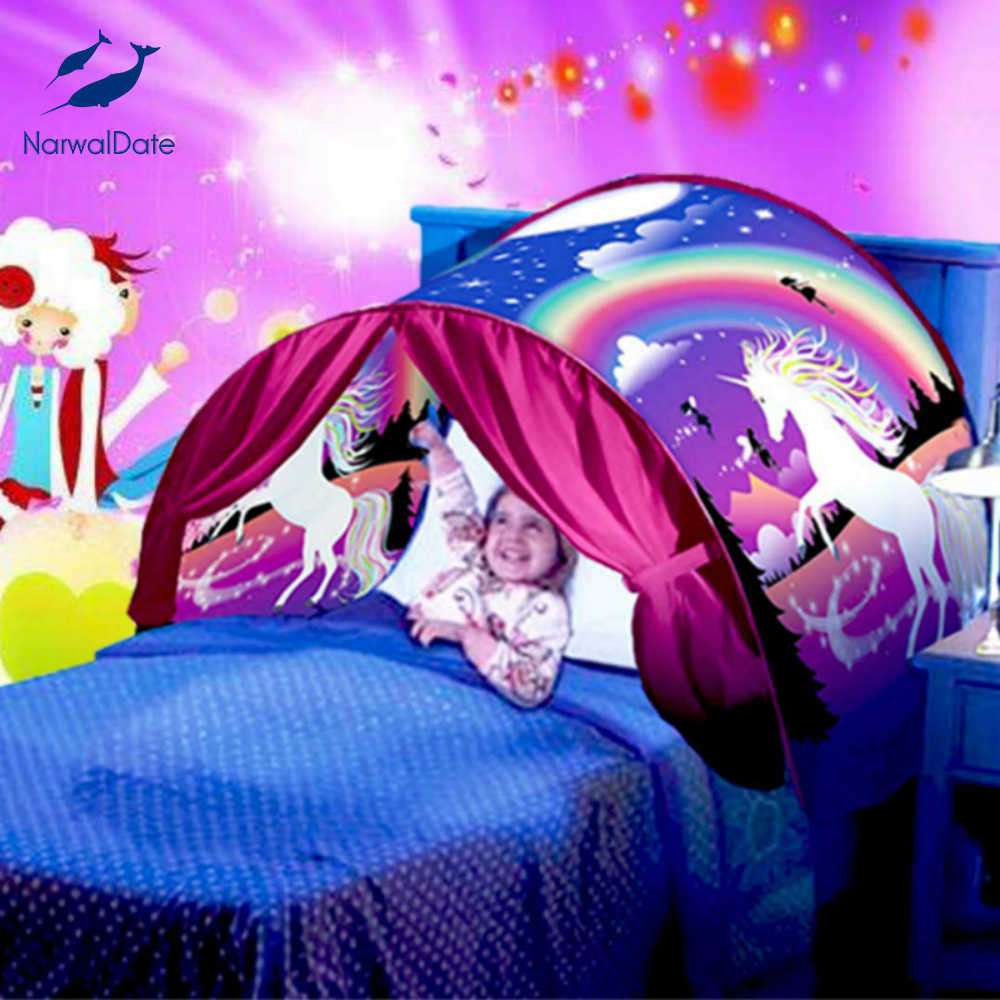 Advanced Children Bedding Tent 3D Printed Girls Room Decor Mosquito Curtain for Bed Canopy Beds Kids Curtain Tent Boy Baby Gift
