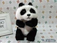 simulation chinese panda 16x14x22cm toy model polyethylene&furs panda model home decoration props ,model gift d136