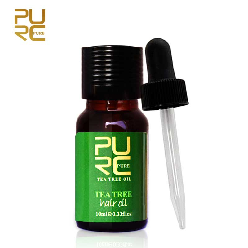 PURC Compound Essential Oil Pure Natural Tea Tree Damaged Dry Repair Hair Anti Dandruff Moisturizing Product Remover Makeup 10ml