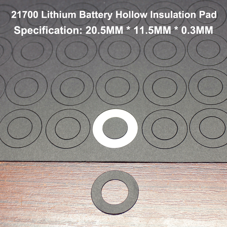 100pcs lot 21700 Lithium Battery Positive Insulation Gasket Hollow Flat Head Pad Insulation Meson Head Gasket 20 11 5MM in Battery Accessories from Consumer Electronics
