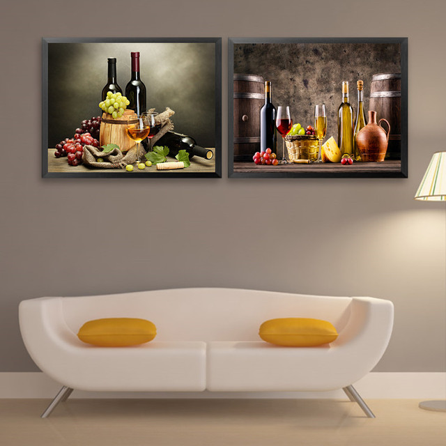Time Limited Modern Single Frameless French Grape Wine Art Canvas Prints Wall  Painting Pictures For