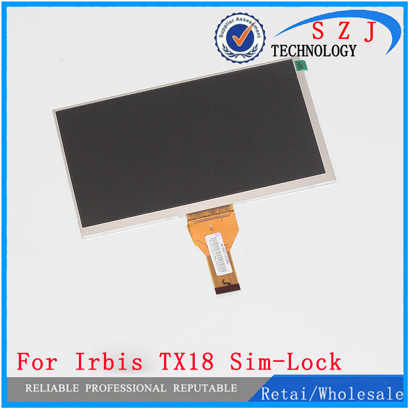 New 7'' inch LCD display matrix Irbis TX18 Sim-Lock 3G Tablet inner LCD Screen Panel Module Replacement Free Shipping new lcd display matrix 7 inch irbis tx77 3g tablet inner lcd screen panel lens frame module replacement free shipping
