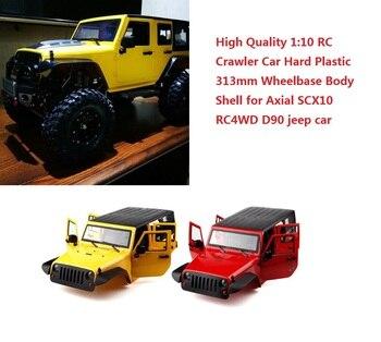 Hohe Qualität 1:10 RC Crawler Auto Hartplastik 313mm Radstand Körper Shell für Axial SCX10 RC4WD D90 jeep auto