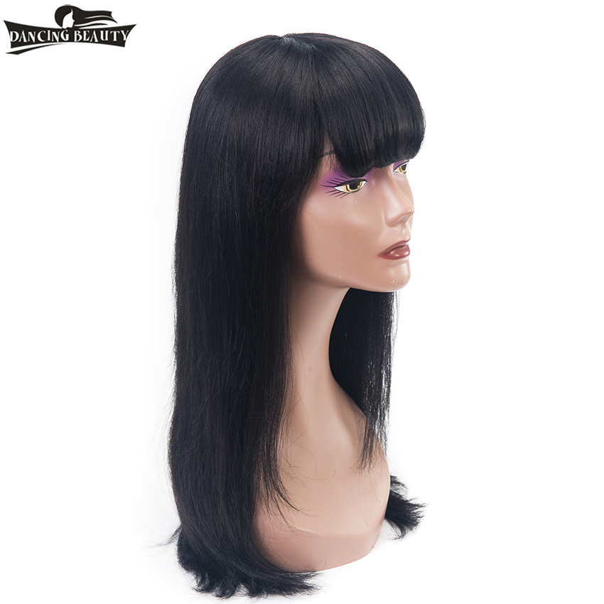 DANCING BEAUTY Pre-Colored Brazilian 1B Lace Frontal Straight Hair Wigs Human Hair Remy Hair 130 Density 22 Inches
