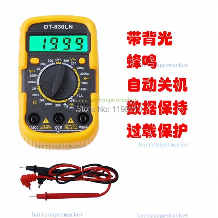 10PCS DT-830LN Mini Digital Multimeter AC DC Current Voltage Meter Tester Voltmeter Ammeter LCD backlight