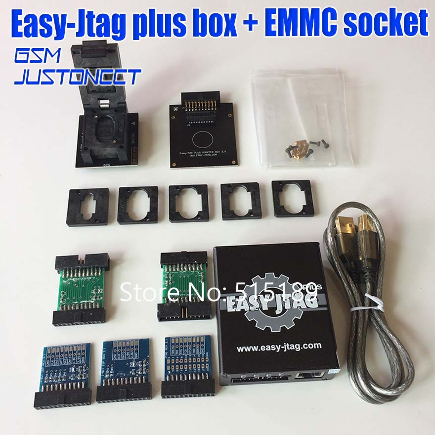 NOUVELLE version ensemble Complet Facile Jtag plus boîte Facile-Jtag plus boîte + MEM prise Pour HTC/Huawei /LG/Motorola/Samsung/SONY/ZTE