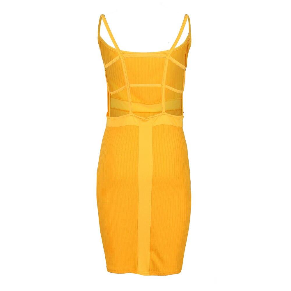 HTB1ELECPgHqK1RjSZFPq6AwapXaR Summer Sexy Bandage Hollow Out Dress Women Fashion Sleeveless Backless Bodycon Party Club Dress Mini Wrap Dress