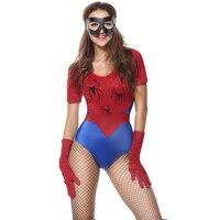 KAILYE wybuchu dorosłych Kobiety Funny Cosplay Kostium Czerwony Seksowna Krótka Sukienka Hollywood Spiderman Cosplay costume