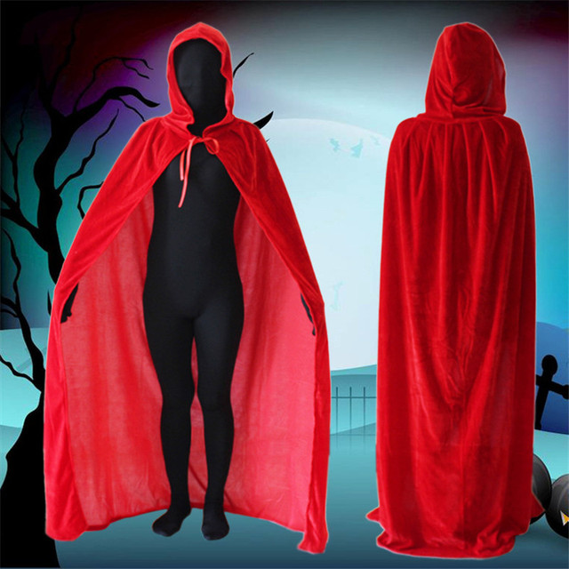 adult elf witch long purple green red black purim carnival halloween cloaks hood and capes halloween