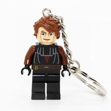 XINH090 Mrvel Super Hero Keyrings Minifigures Keychain Custom Key Ring Keychains DIY Handmade Key Chain Building Blocks Toys