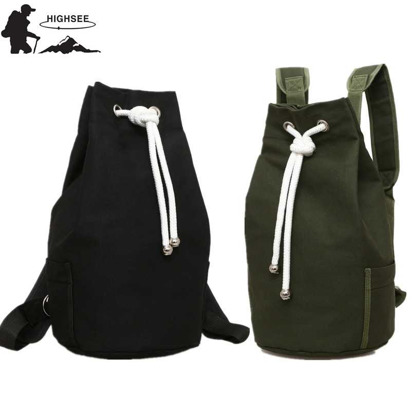 0fee353ef HIGHSEE New large Capacity Sport Gym Bags Women Fitness Bag Canvas Drawstring  Gym Backpack Canvas Bucket