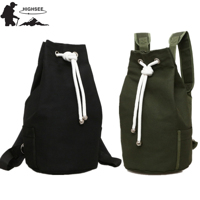 Highsee New Large Capacity Sport Gym Bags Women Fitness Bag Canvas Drawstring Backpack Bucket