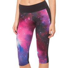 Trousers Women Out Door Leggings Galaxy Printed 3d Fashion Pants Tattoo Slim Leggings Stretch Fitness Trousers Women's Capris