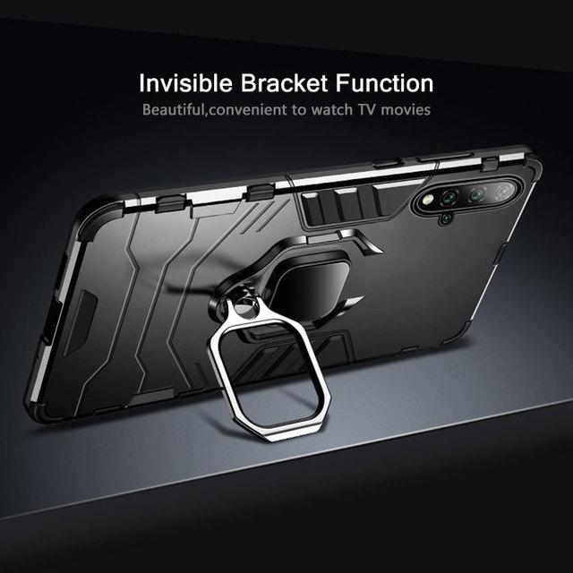 KEYSION Antiurto Armatura di Caso Per Huawei Mate 30 20 Pro P30 P20 lite P Smart Y5 Y6 Y7 Y9 2019 copertura del telefono per Honor 20 Pro 10i 10 lite 8a 8X 9X 2