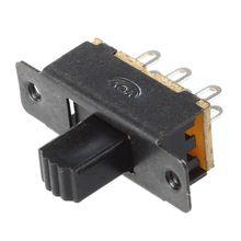 10 Pcs SS22F25-G7 2 Position DPDT 2P2T Panel Mount Mini Slide Switch Solder Lug