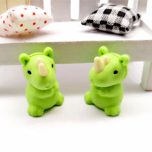 1X cute Cartoon eraser mini unicorn modelling children stationery gift prizes  kawaii school office supplies papelaria