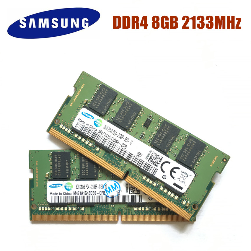 SAMSUNG DDR4 4G 8G 16G Laptop Memory RAM 2133 2400 Memoria DRAM Stick for Notebook 100% Original 4GB 8GB 16GB