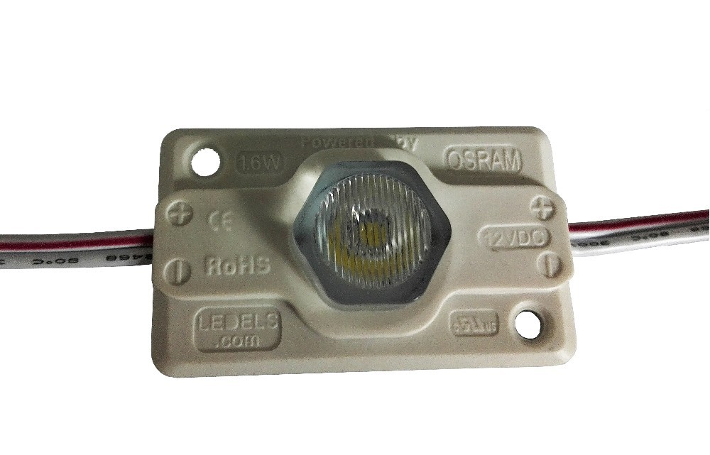 Free shipping 500pcs / lot 1.6W 120LM UL LISTED Nichia LED Module with edge lens for double-side light box lighting