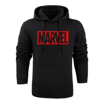 Marvel Long Sleeve Solid Color Hooded Sweatshirt