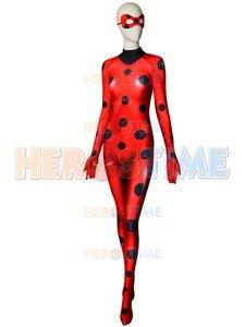 Image 3 - Hot Sale Ladybug Costume Quality 3D Print Ladybug Cosplay Costume Spandex Woman Zentai Bodysuit